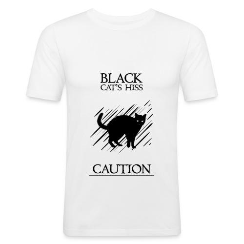 black cat - Camiseta ajustada hombre