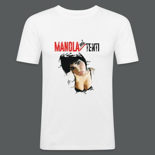 Manola Mi Tenti - Maglietta aderente da uomo