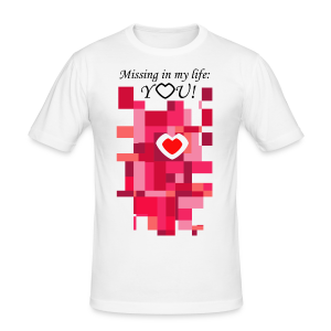 You Are Missing - Männer Slim Fit T-Shirt