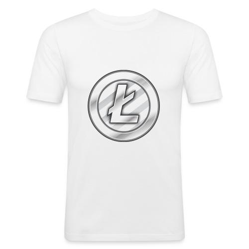 Litecoin T-shirt - Slim Fit T-shirt herr