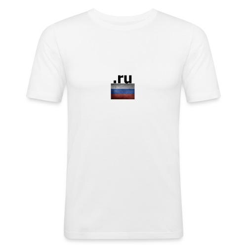 .ru Russland-Fahnen Trikot - Männer Slim Fit T-Shirt