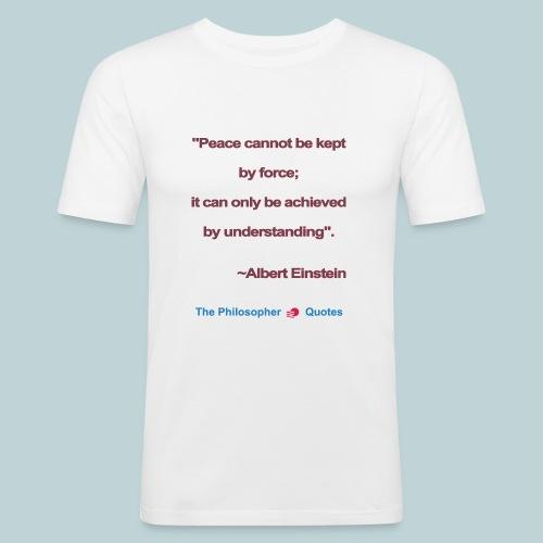 Einstein Peace understanding b - slim fit T-shirt