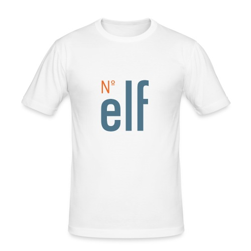 No. elf Logo - Männer Slim Fit T-Shirt