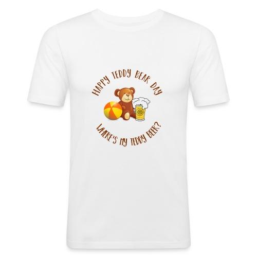 Happy Teddy Bear Day - T-shirt près du corps Homme
