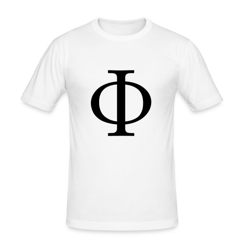 1024px-Greek_letter_uppercase_Phi-svg-png - Herre Slim Fit T-Shirt
