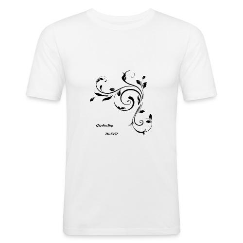 Glam World - Maglietta aderente da uomo
