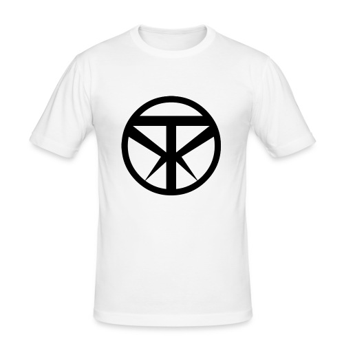 Tridex Logo Black - Men's Slim Fit T-Shirt