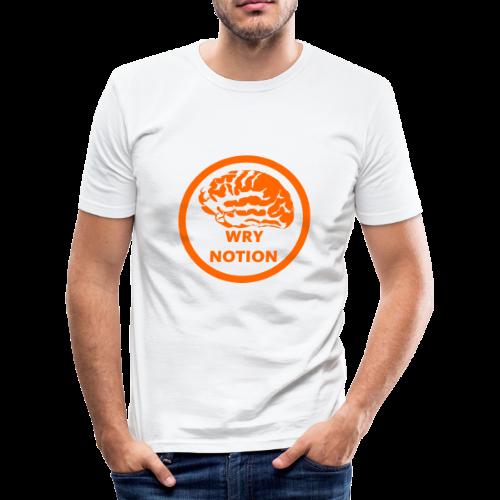 WRYNOTION Brain Logo - Männer Slim Fit T-Shirt