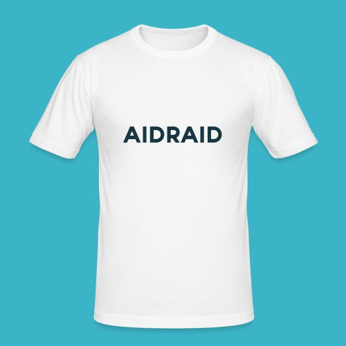 Aid Raid Simples Shirt Design - Männer Slim Fit T-Shirt