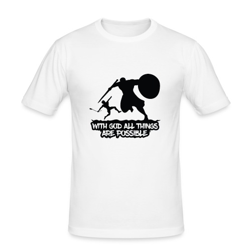 WITH GOD ALL THINGS ARE POSSIBLE - T-Shirt - Männer Slim Fit T-Shirt
