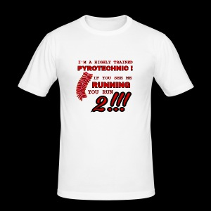 TRAINED pyrotechnic - slim fit T-shirt