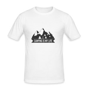 Camping is my life! - Männer Slim Fit T-Shirt