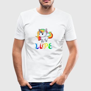 Einhorn Lupe - Männer Slim Fit T-Shirt
