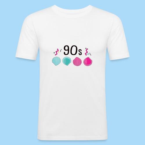 Leckmuschel 90er Jahre Muschel 90s - Männer Slim Fit T-Shirt