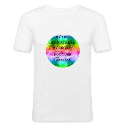 Rainbow/Regenbogen - Männer Slim Fit T-Shirt
