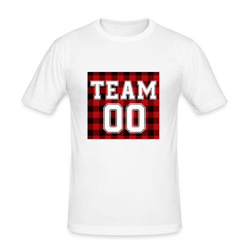 TEAM 00 T-shirt White - slim fit T-shirt