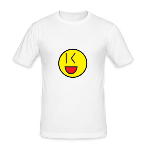 Cool Wink Smiley Hoodie - Men's Slim Fit T-Shirt
