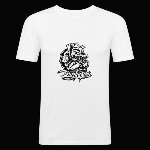 Drug_Fuckers_Logo _-_ Composition_01-_black - Men's Slim Fit T-Shirt