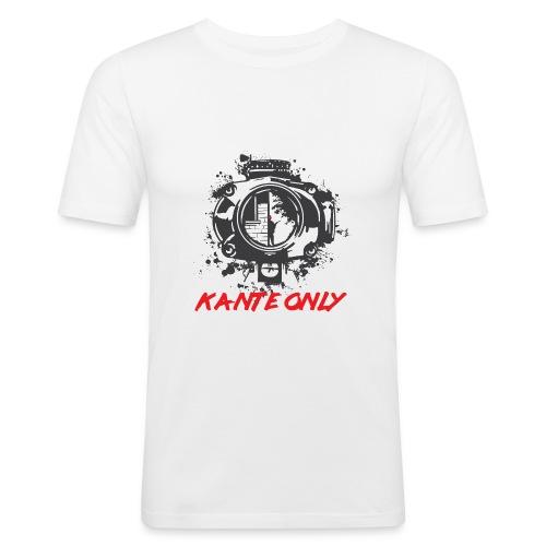 Kante Only (weiß) - Männer Slim Fit T-Shirt