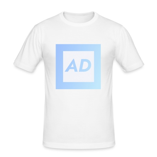 Blue Logo - Men's Slim Fit T-Shirt