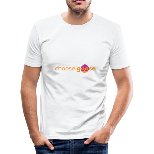 choosegoose #01 - Männer Slim Fit T-Shirt