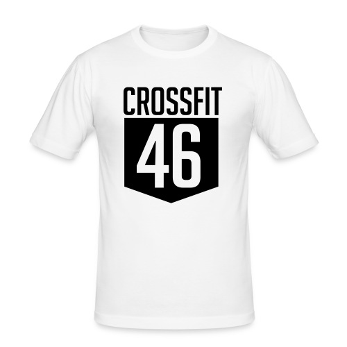 CROSSFIT46 big logo - Slim Fit T-skjorte for menn