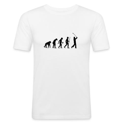Evolution of Man Golf - Herre Slim Fit T-Shirt