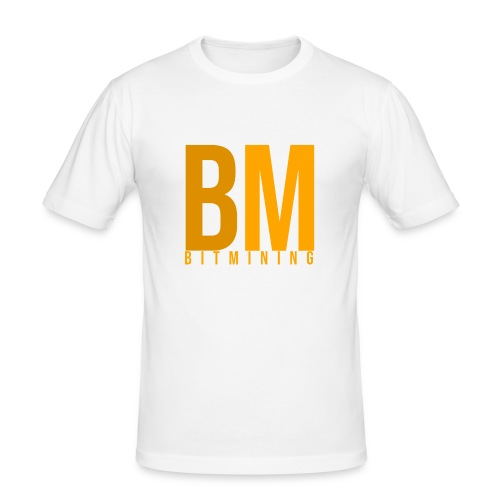BitMining official Logo - T-shirt près du corps Homme
