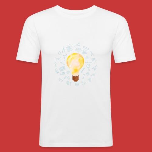 5 IDEEN Glühbirne 2018 - Männer Slim Fit T-Shirt