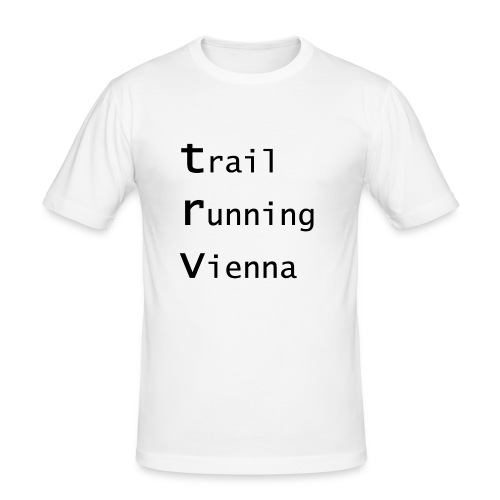 TRV Black 3zeilig - Männer Slim Fit T-Shirt