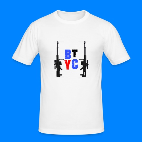 Blurixincommander YT AS50 Logo - Männer Slim Fit T-Shirt