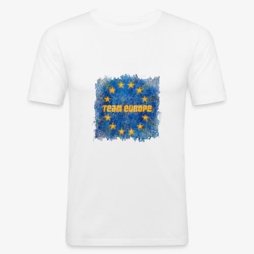 team europe - Miesten tyköistuva t-paita