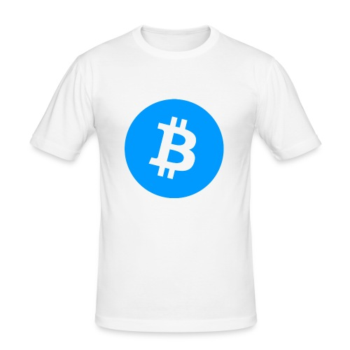 Bitcoin T-shirt - Slim Fit T-shirt herr