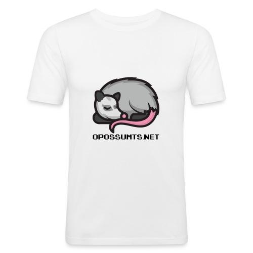 OpossumTS-Logo mit Schrift - Männer Slim Fit T-Shirt
