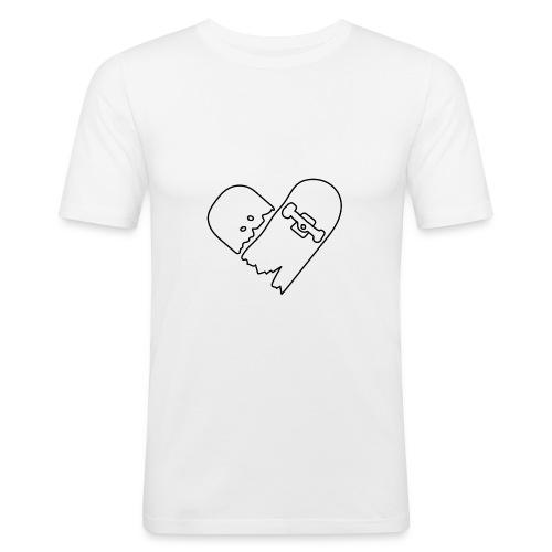 Broken Skateboard - Men's Slim Fit T-Shirt