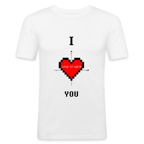 I LOVE YOU - Maglietta aderente da uomo