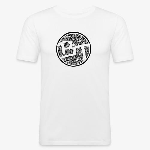 Buenos Tiempos round - Miesten tyköistuva t-paita