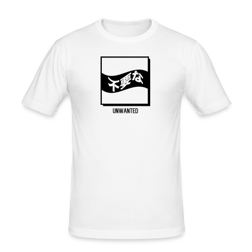 UNWANTED Japanese Tee White - Men's Slim Fit T-Shirt