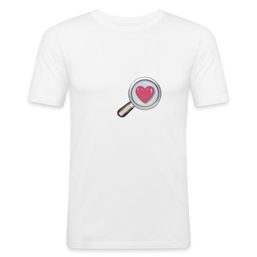 Herz mit Lupe - Männer Slim Fit T-Shirt