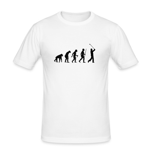 Evolution of Man Golf - Herre Slim Fit T-Shirt