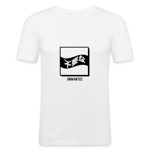 UNWANTED Japanese Tee White - Men's Slim Fit T-Shirt