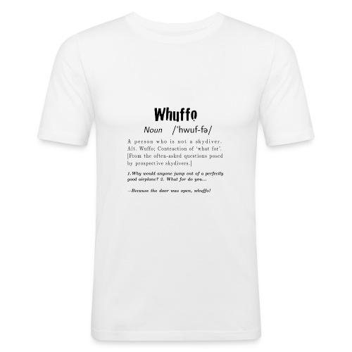 Whuffo black - Miesten tyköistuva t-paita