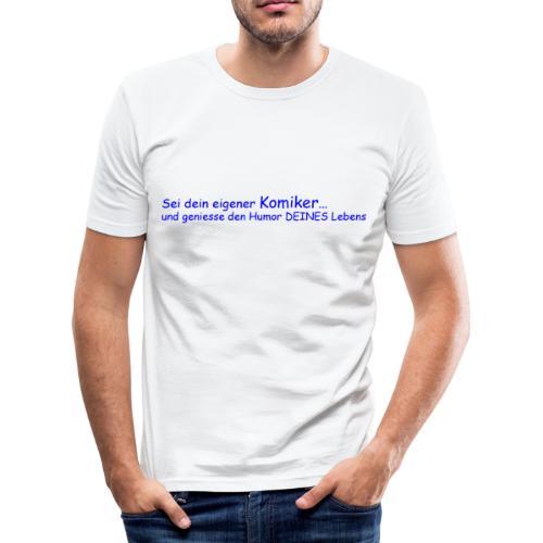 Komiker blau - Männer Slim Fit T-Shirt