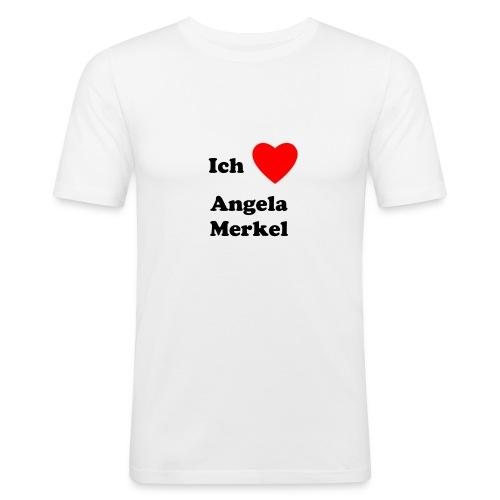 Ich liebe Angela Merkel - Männer Slim Fit T-Shirt