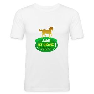 logo1parisportifs - Tee shirt près du corps Homme