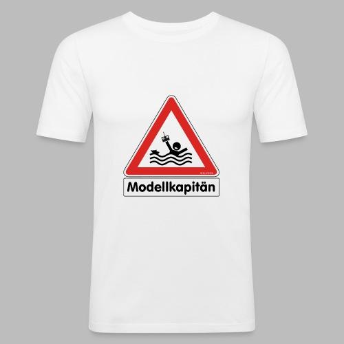 Warnschild Modellkapitän - Männer Slim Fit T-Shirt