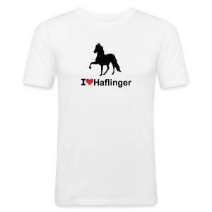 I Love Haflinger - Männer Slim Fit T-Shirt
