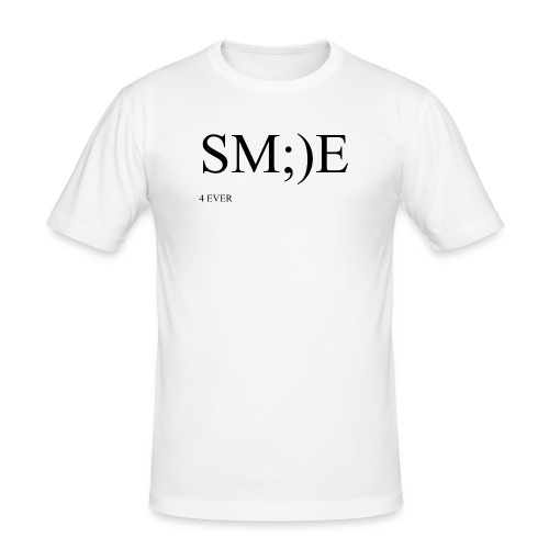 SM;)E 4 EVER - Men's Slim Fit T-Shirt