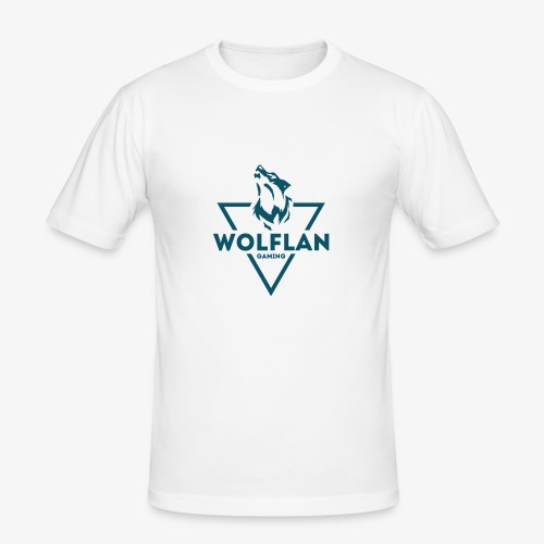 WolfLAN Logo Gray/Blue - Men's Slim Fit T-Shirt