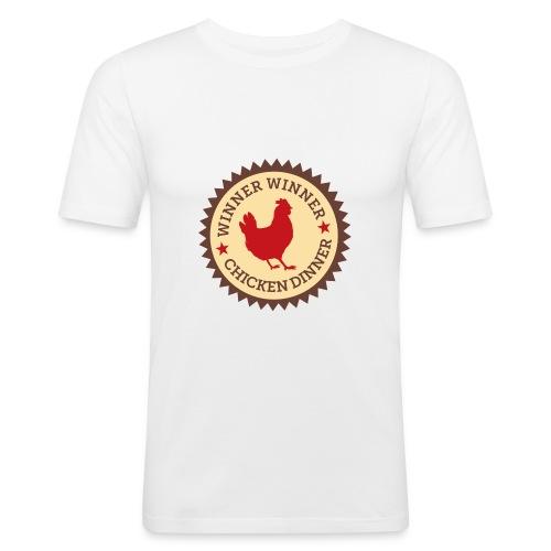 WINNER WINNER CHICKEN DINNER - Men's Slim Fit T-Shirt